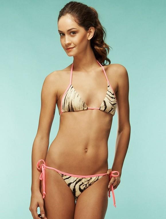 Hot pink zebra bikini images 895