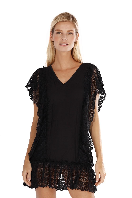 Antigua Beach Dress in Black