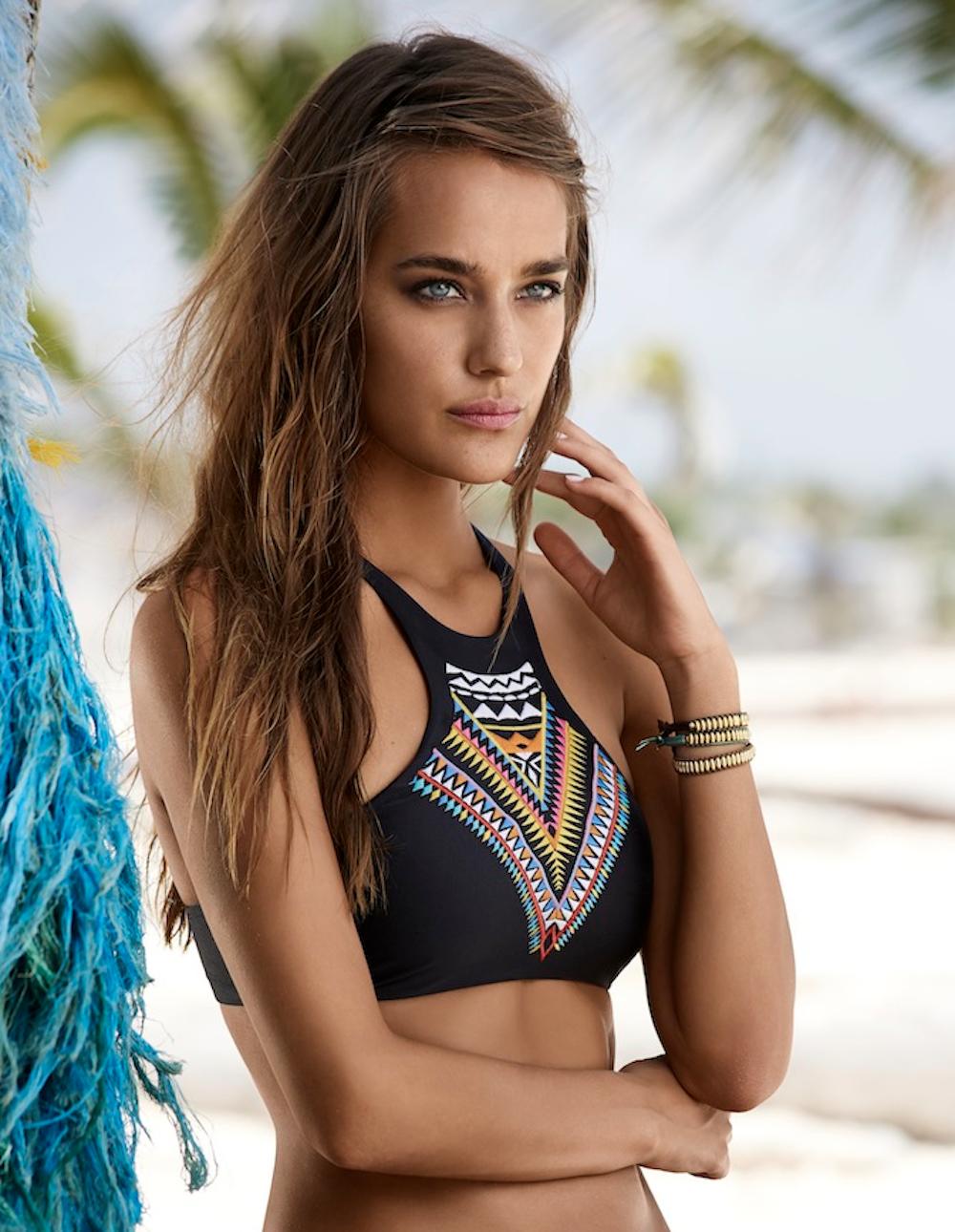 Gypsy Embroidered Halter Bikini Top