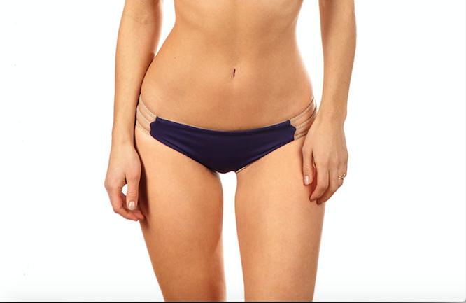 Mia Itsy Reversible Braid Bottom in Aubergine/Nude