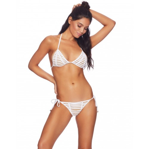Hard Summer Triangle Top & Tie Side Bottom in White