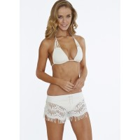 Hippie Lace Shorts in Bone