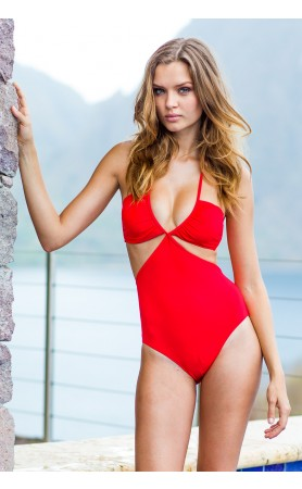 Infiniti Cut-Out One Piece in Red