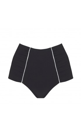Sailing Black High Waist Bikini Bottom