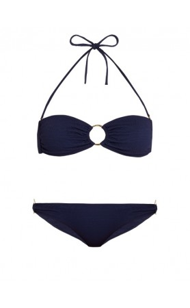 Evita Bandeau Top & Hipster Bottom at Navy