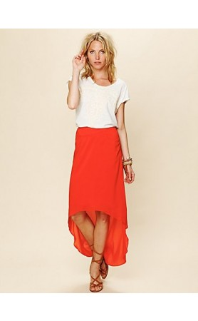 Pretty Heart Skirt in Orange