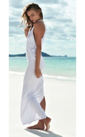 Mavericks High Neck Maxi Dress in Foam