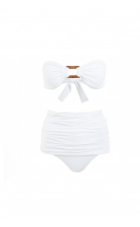 Antibes Two Piece Bikini in White