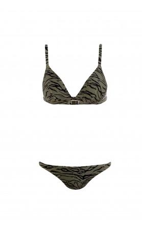 Laos Bikini in Tiger Olive