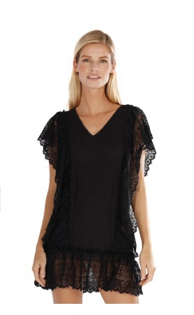 Antigua Beach Dress in Black