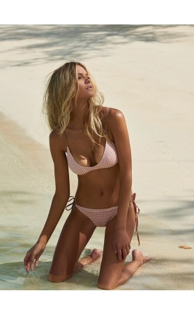 Peru Bralette Bikini in Pink Lattice