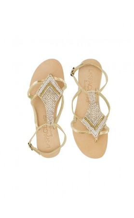 Arrow Sandals in Gold