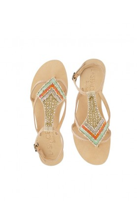 Arrow Sandals in Sand