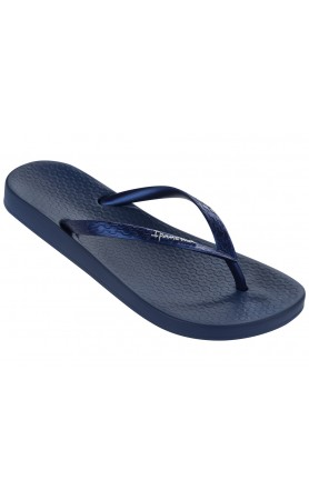 Ana Tan Flip Flops in Navy
