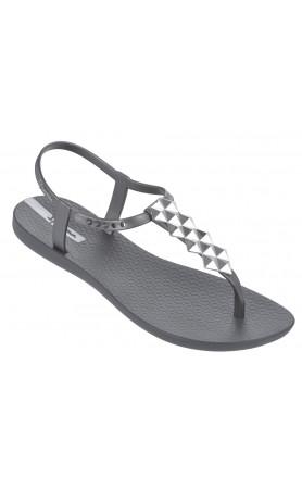 Cleo Shine Flip Flop in Grey Silver