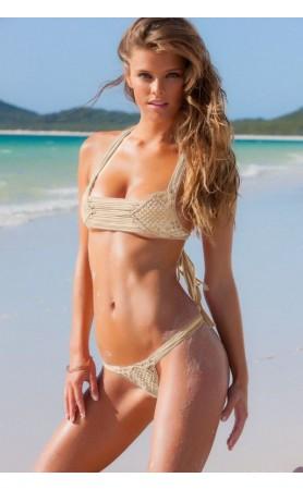 Koh Samui Bikini in Metallic Cream