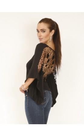 Annan Crochet Top in Black