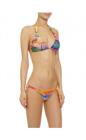 Tropical Leaves Halter Top & Classic Bottom