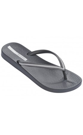 Ana Metallic Flip Flops in Grey Silver