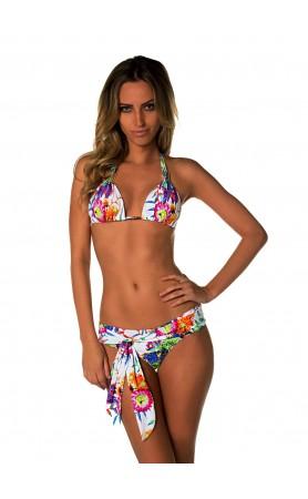 Calcinha Halter Bikini Top  in Print