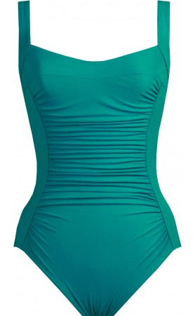 Basic Square Neck One Piece Swimsuit in Teal