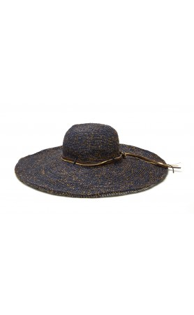 Bianca Hat in Navy/Gold