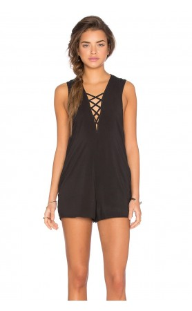 Indie Romper in Soft Black by Blue Life
