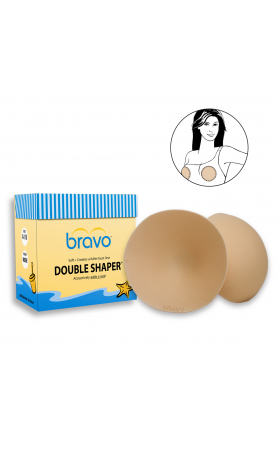 Double Shaper Bravo Pads in Nude