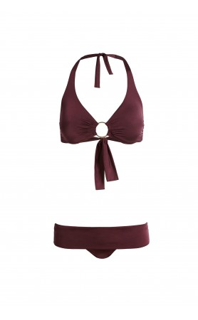Brussels Bikini in Plum