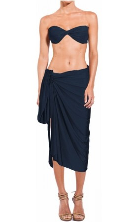Long Sarong in Blue Stone