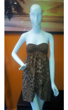 Casha Dress in Chocolate Salt