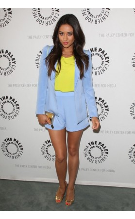 NAVEN Periwinkle Circle Shorts as seen on Shay Mitchell at Pesca Boutique