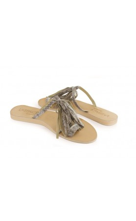 Fringe Sandals in Natural