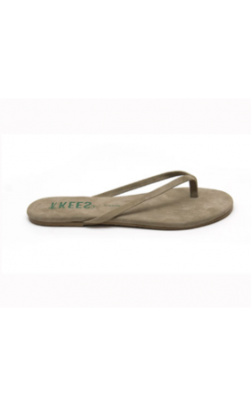 TKEES Creams in Moss Sandals