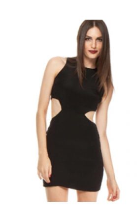 NAVEN Cut Out Black Dress  at Pesca Boutique