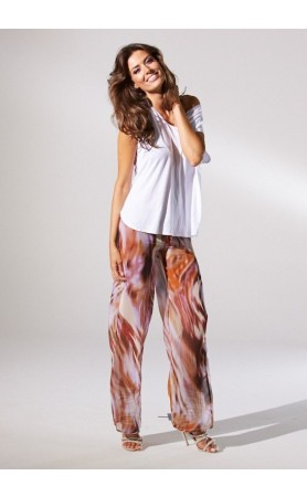 Darcy Pants Watercolor Chiffon