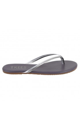 TKEES Duo in Silver Shower Sandals