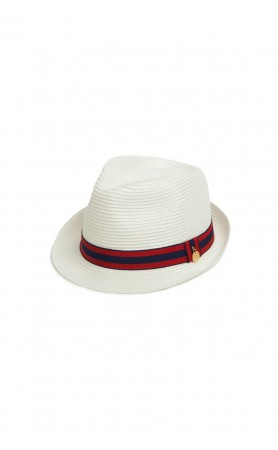 EJ Hat in White