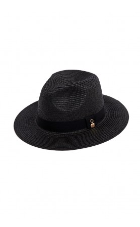Black Fedorah Hat