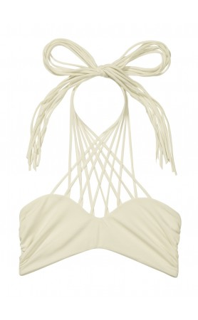 Kahala Bandeau Top in Bone