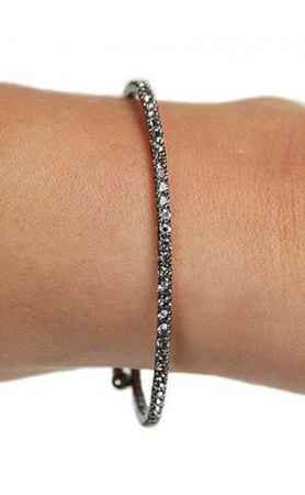Funky Junque Mini Rhinestone Wrap Bracelet in Hematite at Pesca Boutique