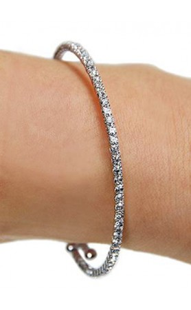 Funky Junque Mini Rhinestone Wrap Bracelet in Silver at Pesca Boutique