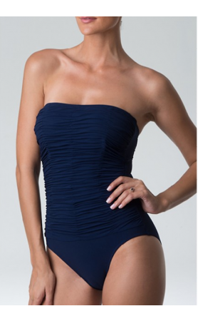 Heaven Strapless One Piece Swimsuit in Navy