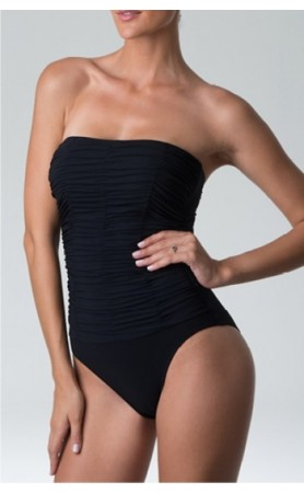 Heaven Strapless One Piece Swimsuit in Black