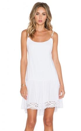 Karima Drop Waist Dress in White