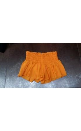 Mika Smock Band Shorts in Orange