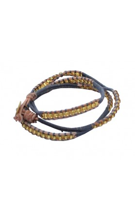 Anouk Wrap Bracelet  in Grey