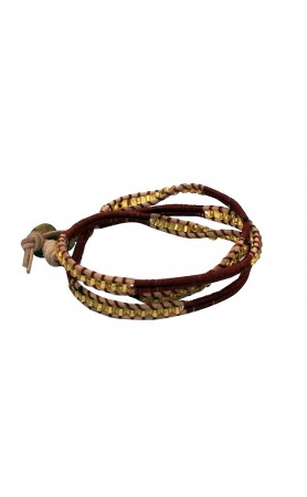 Anouk Wrap Bracelet  in Brown