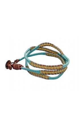 Anouk Wrap Bracelet  in Aqua