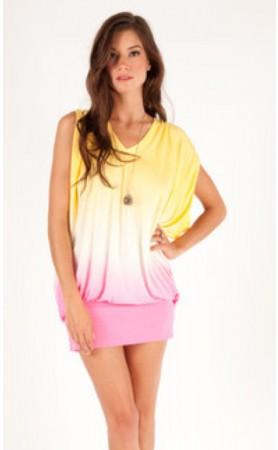 Ottis Dress in Lemon Pink